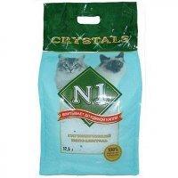 (м) N1 Crystals впитывающий силикагелевый наполнитель для кошачьего туалета Кристалл 12,5л.